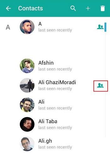 در پیام رسان موبوگرام هم که یک برنامه جانبی تلگرام می باشد می توانیم بفهیم که چه کسی شماره ما را ذخیره کرده است. افرادی که شماره موبایل مان را در گوشی خود سیو کرده اند یک آیکن آدمک علامت گذاری شده اند.